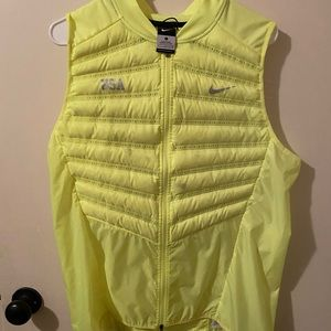Nike volt (neon yellow) Team USA vest - L